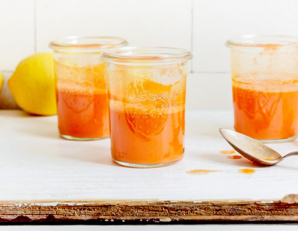 Ginger, Carrot & Garlic Shot